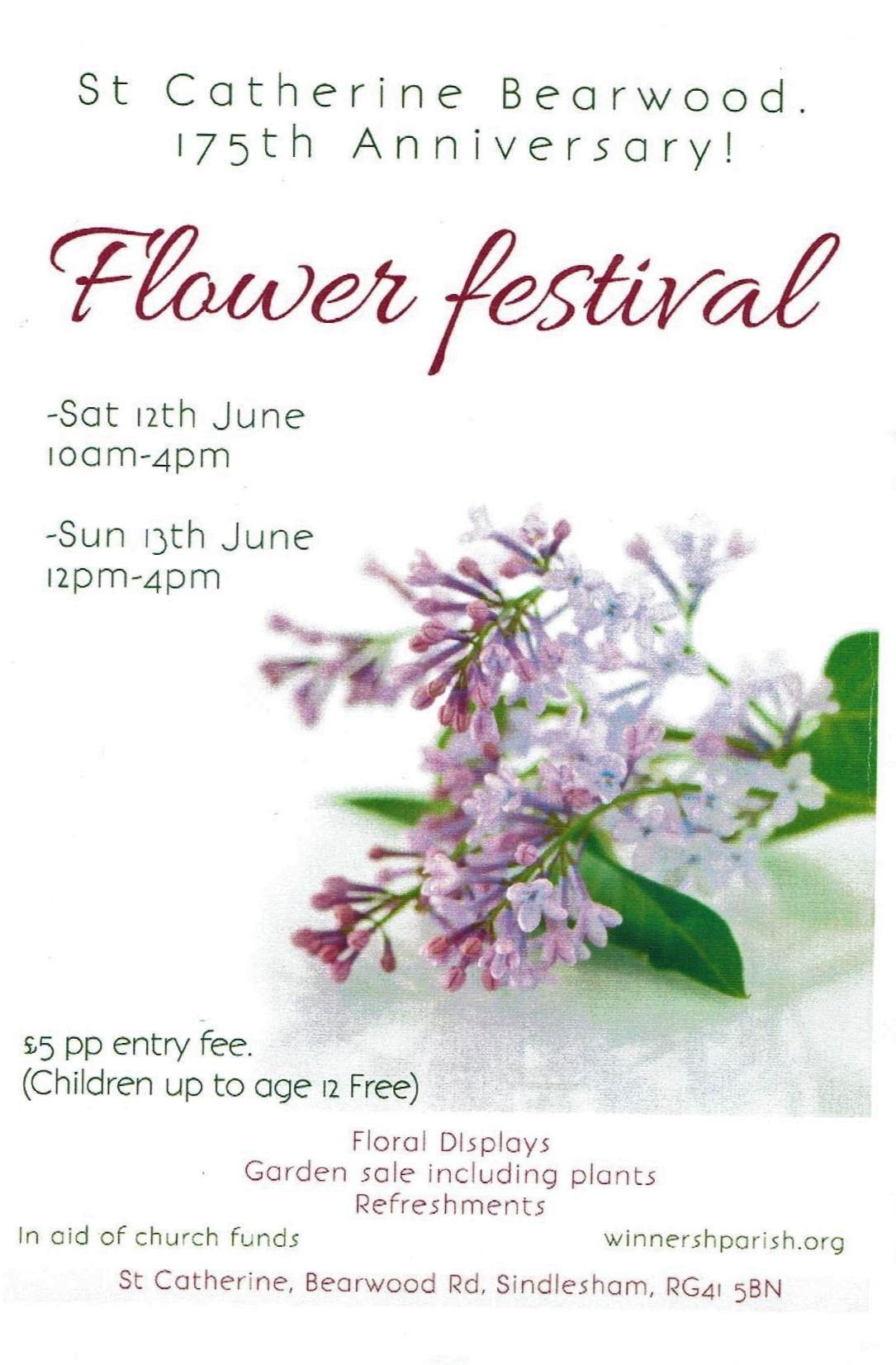 Flower Festival at St Catherine's Bearwood